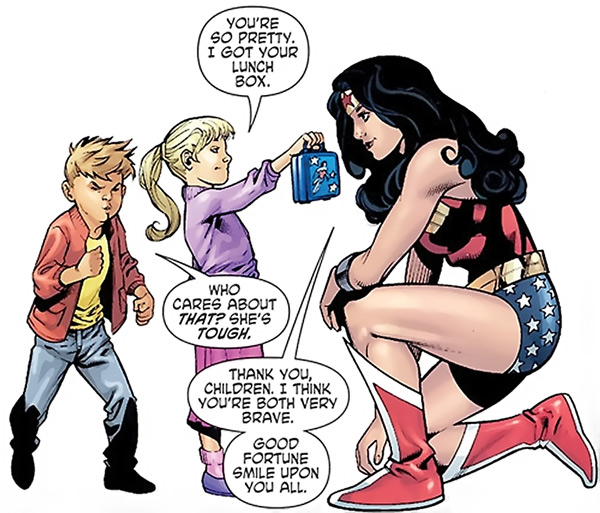 Women academics: pretty and tough! Or not. That's okay, too. Gail Simone's Wonder Woman, DC Comics.
